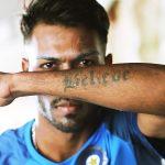 Hardik Pandya tattoo pic
